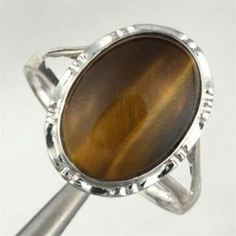 TIGERS EYE RING IN 10KW GOLD