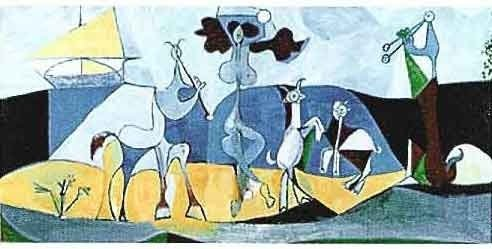 """PICASSO """"ANIMALS PLAYING MUSICAL"""""""