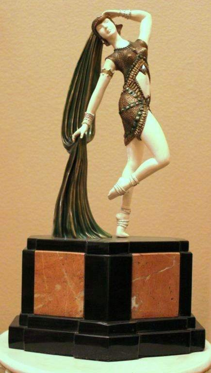 """""""YAMBO"""" -BRONZE AND IVORY SCULPTURE"""