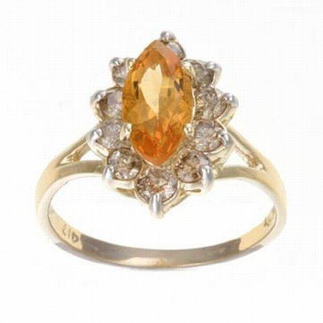 2.0 CTW. CITRINE & DIAMOND RING IN 10KY GOLD