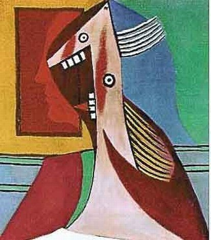 """PICASSO """"LAUGHING LADY WITH TEETH SHOWING"""""""
