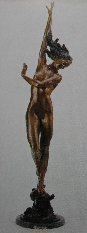 """FLOWING IN THE WIND"" BRONZE SCULPTURE - FHIGHMUTH"