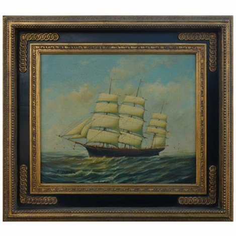 """OLD WORLD SHIP"" - ORIGINAL OIL ON CANVAS"
