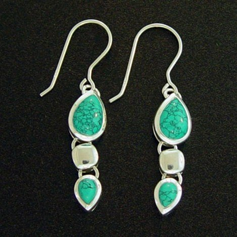 STERLING &TURQUOISE EARRINGS