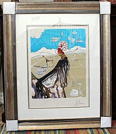 "HAND SIGNED DALI ""THE EARTH GODDESS"" (THE CHEF) 1980"