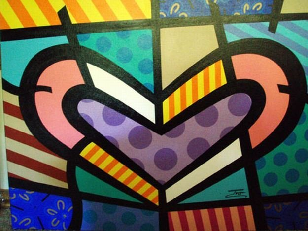 "JOZZA ORIGINAL PAINTING - ""SER HEART"""