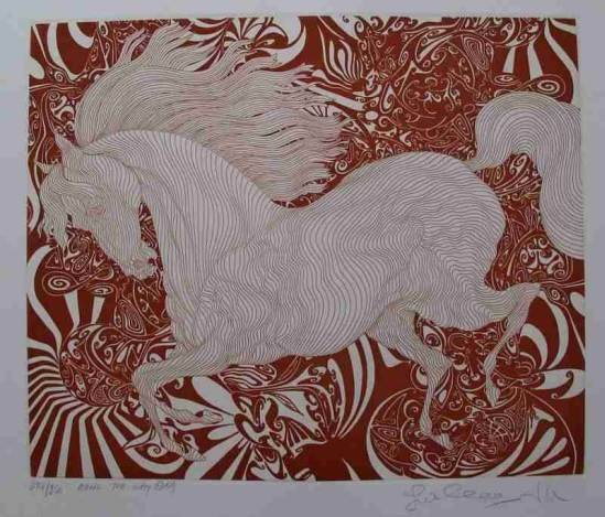 """AZOULAY """"ALONG THE WAY"""" ETCHING"""