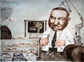 """CHARLES BRAGG """"ORTHODONTIST"""" HAND SIGNED LITHOGRAPH"""