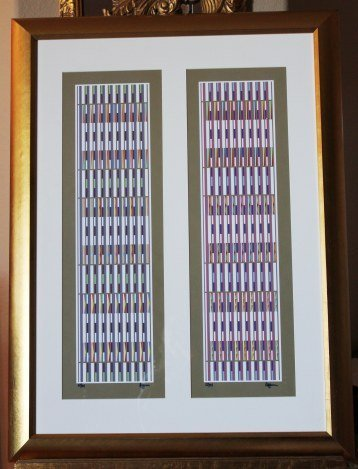 """AGAM HAND SIGNED """"DOUBLE VERTICAL ORCHESTRATION"""" GOLD"""