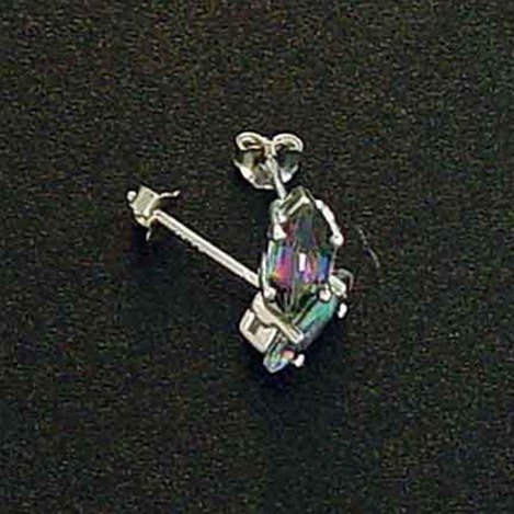 2 CT. MYSTIC TOPAZ STERLING EARRINGS