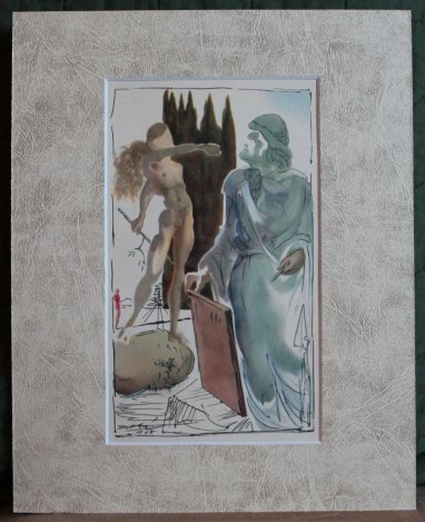 ANTIQUE 1948 DALI LITHOGRAPH