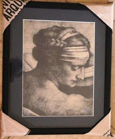 1887 ANTIQUE GALLERY STAMPED LITHOGRAPH