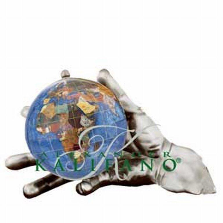 KALIFANO GEMSTONE GLOBE WORLD IN HAND