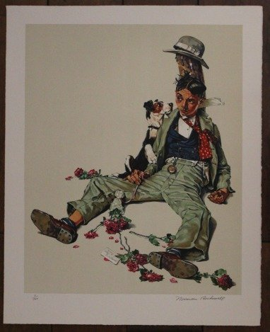 """ROCKWELL - HAND SIGNED """"REJECTED SUITOR"""" 1976"""