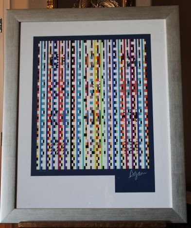 """AGAM HAND SIGNED """"BEYOND VISIBLE"""" 1980"""