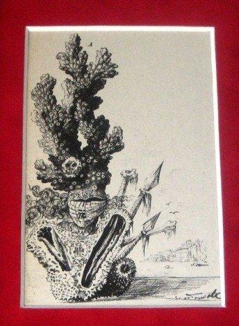 RARE ANTIQUE 1948 DALI LITHOGRAPH
