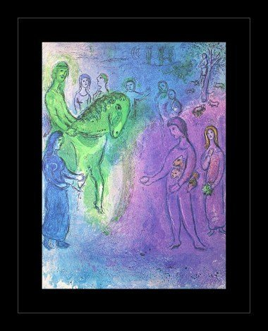 """CHAGALL 1977 """"DAPHNIS AND CHLOE"""" LITHOGRAPH"""