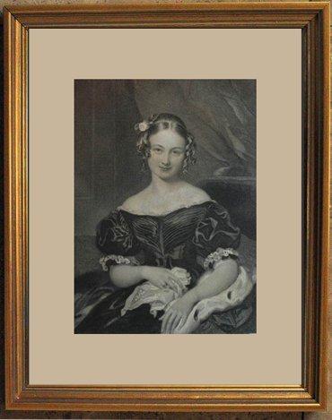"""1848 ANTIQUE ENGRAVING """"A PORTRAIT"""""""