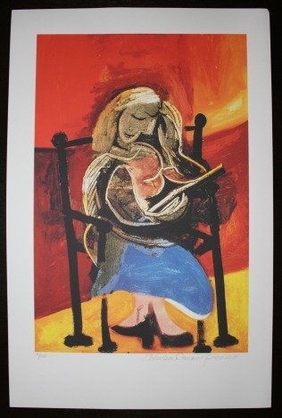 """PICASSO """"SEATED WOMAN READING"""""""