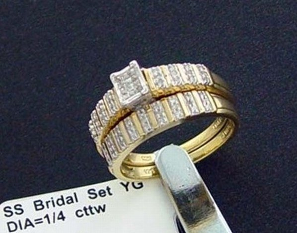 1/4 CTW. DIAMOND IN GOLD OVER STERLING