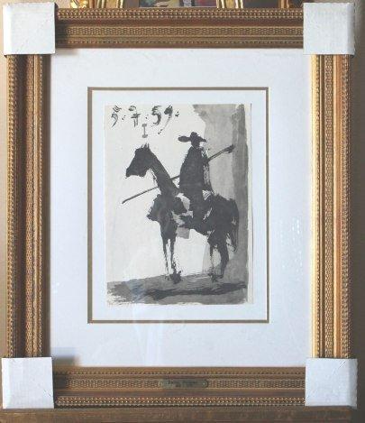 PICASSO ORIGINAL LITHOGRAPH 1961- TORO Y TOREROS