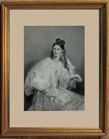 "1848 ANTIQUE ENGRAVING ""CLARA HARLAND"""