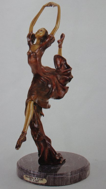 """BALLERINA IN FLIGHT"" BRONZE SCULPTURE INSPIRED - ICART"
