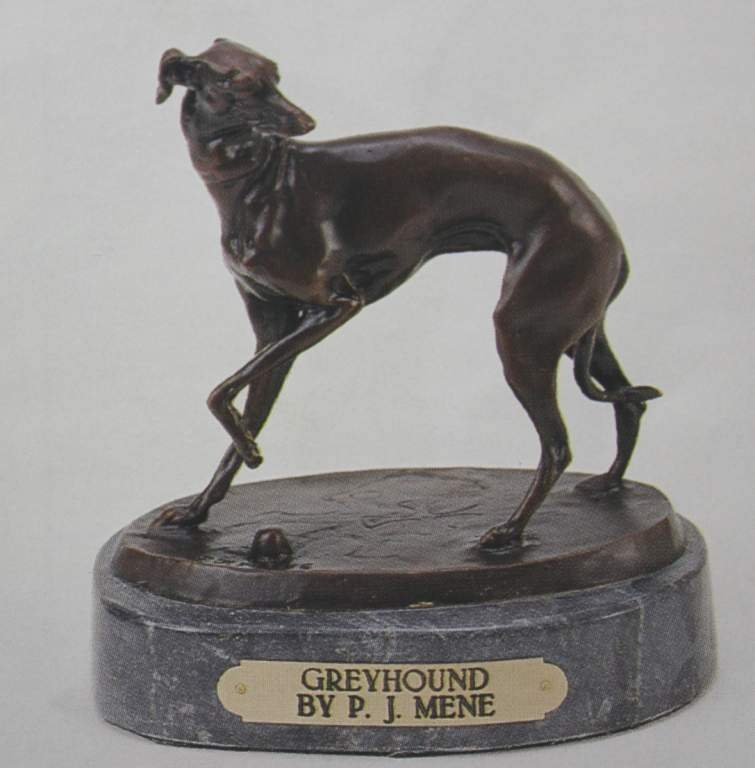 """GREYHOUND"" BRONZE SCULPTURE - MENE"