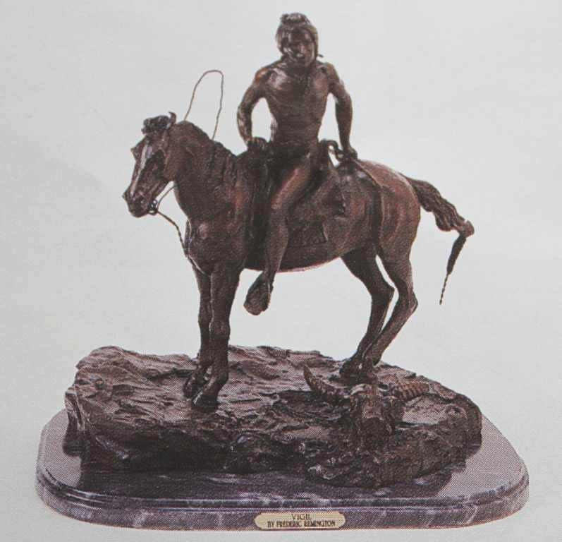 """VIGIL"" BRONZE SCULPTURE - REMINGTON"