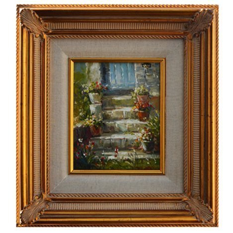 """""""GARDEN STAIRS"""" - ORIGNIAL OIL ON CANVAS"""