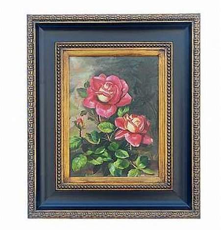 """""""RED ROSES"""" - ORIGINAL OIL ON CANVAS - MINT"""