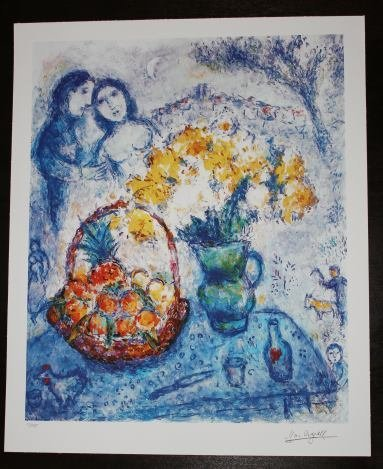 """CHAGALL """"YELLOW BOUQUET"""""""