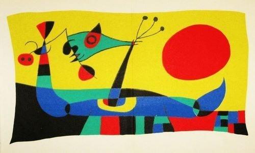 ANTIQUE MIRO ORIGINAL LITHOGRAPH (COMPOSITION 2) 1956