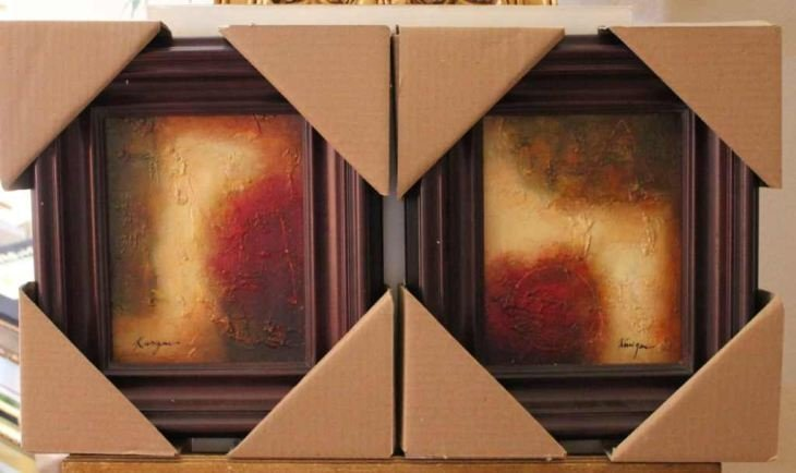 """SET OF """"ABSTRACT"""" - ORIGINAL OIL ON CANVAS"""
