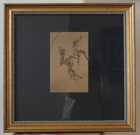 "TOULOUSE-LAUTREC 1967 HELIOGRAVURE FROM THE ""AT THE"