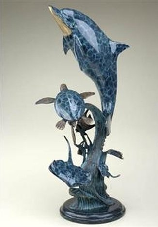 DOLPHIN'S WORLD BRONZE SCULPTURE