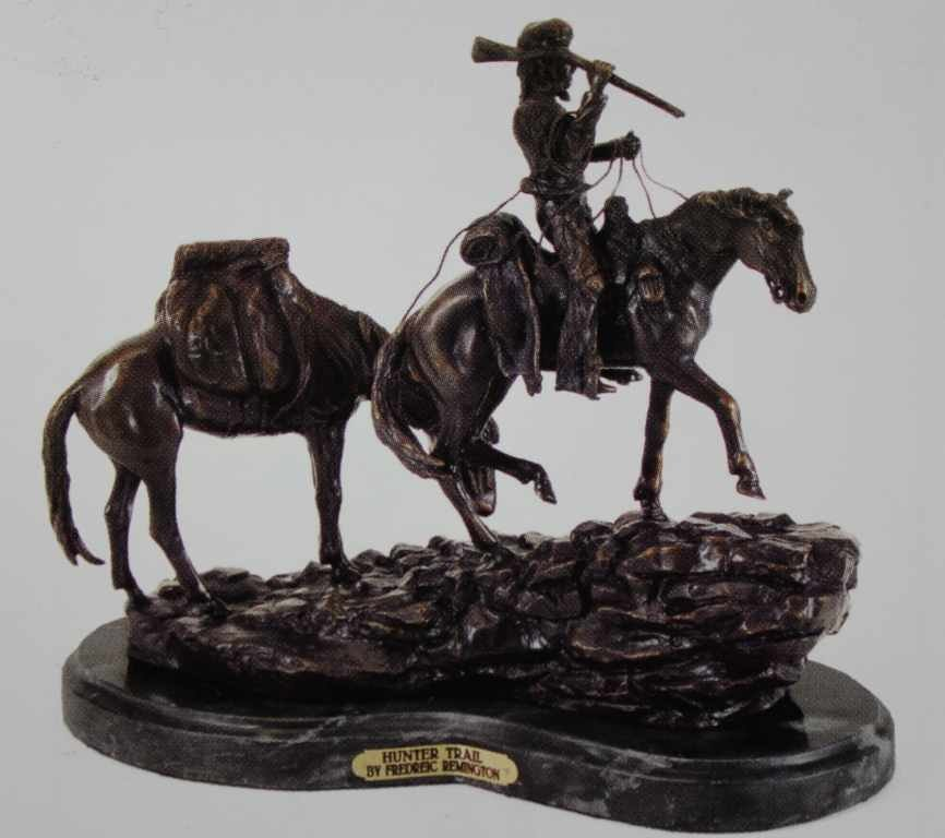"""HUNTER TRAIL"" BRONZE SCULPTURE - REMINGTON"