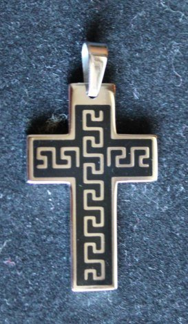 CROSS PENDANT - POLISHED STAINLESS STEEL