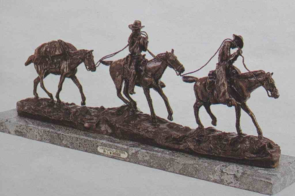"""""""CHANGING OUTFITS"""" BRONZE SCULPTURE - RUSSELL"""