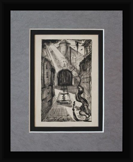 RARE ANTIQUE 1945 DALI LITHOGRAPH