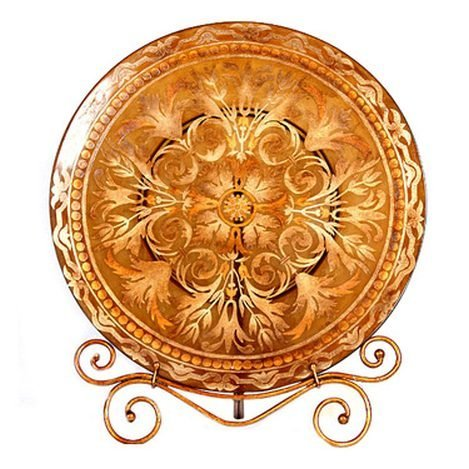 BURNISHED GOLD CHARGER PLATE
