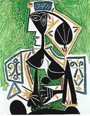 """PICASSO """"WOMAN IN GREEN"""""""