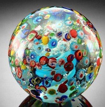 ART GLASS SPHERE / PAPERWEIGHT
