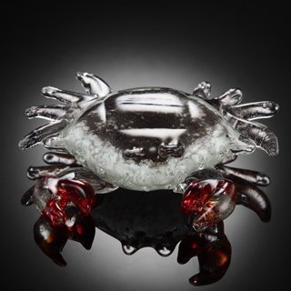ART GLASS CRAB - UNIQUELY HAND CRAFTED
