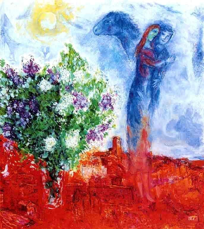 """CHAGALL """"COUPLE ABOVE ST. PAUL"""""""