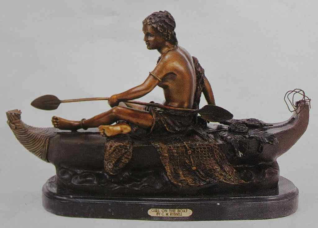 """GIRL ON THE BOAT"" BRONZE SCULPTURE - RUSSELL"