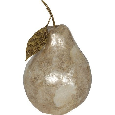 CAPIZ PEAR WITH GILDED ACCENTS