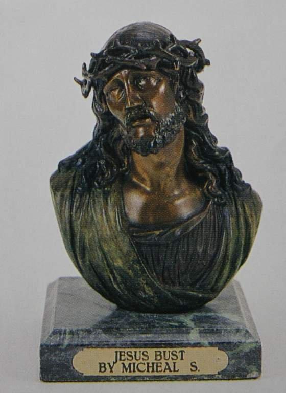 """""""JESUS BUST"""" BRONZE SCULPTURE - MICHAEL S."""