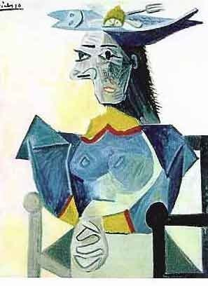 """PICASSO """"LADY WITH FORK AND LEMON IN HAT"""""""