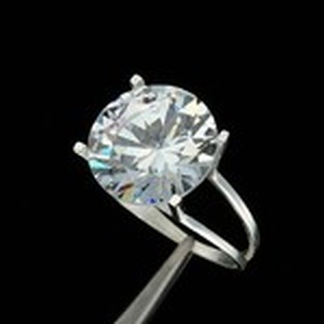 10CT. CZ SOLITAIRE RING IN STERLING